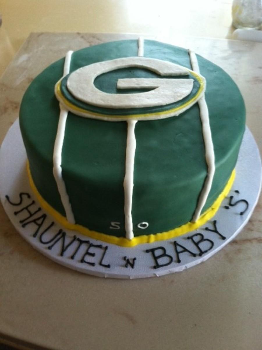 Pleasant Green Bay Packers Birthday Cake Cakecentral Com Personalised Birthday Cards Veneteletsinfo