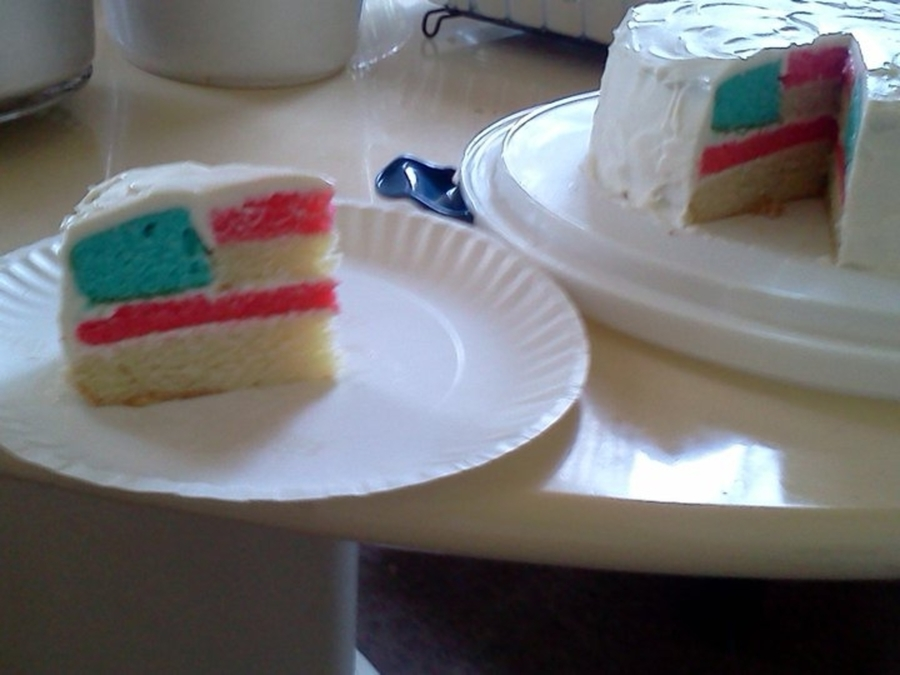 American Flag Cake on Cake Central