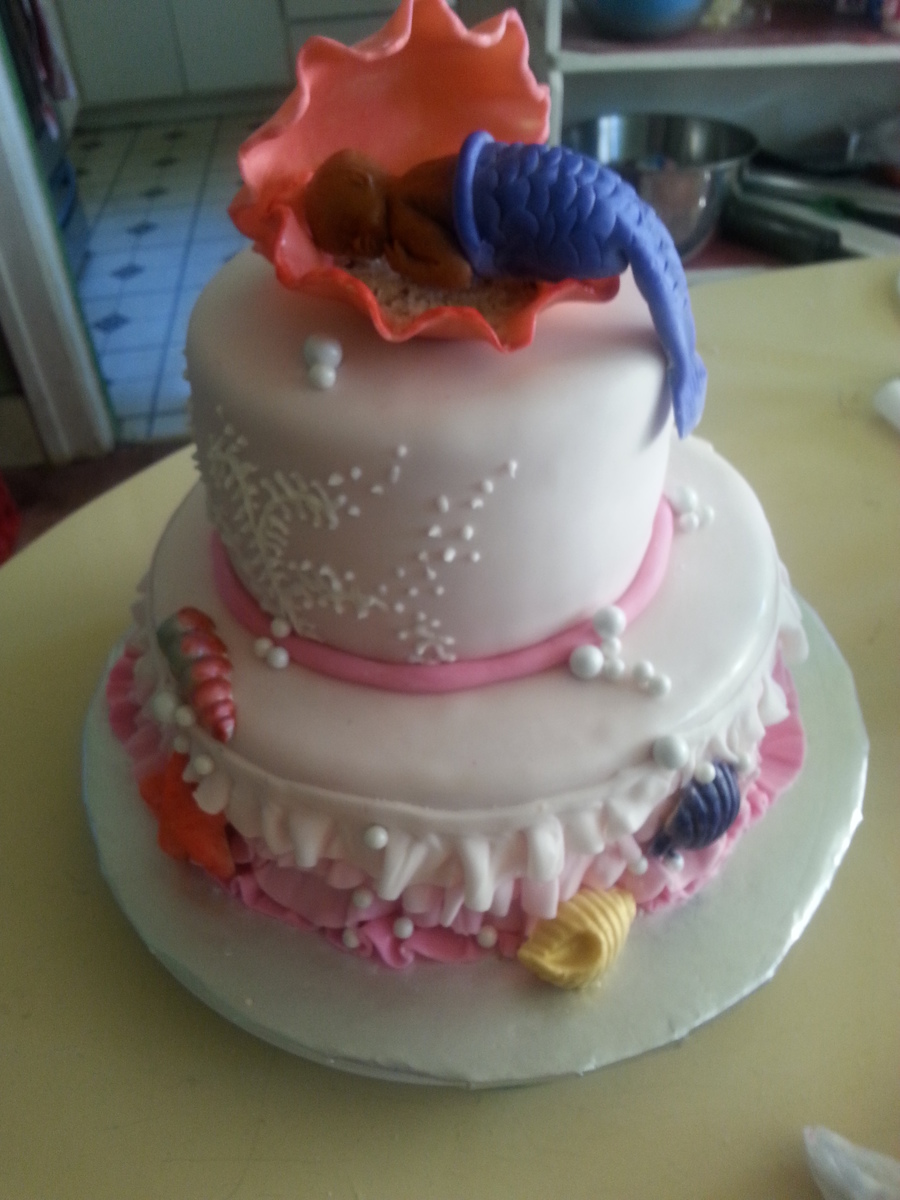 Cake Decorating Baby Shower Girl