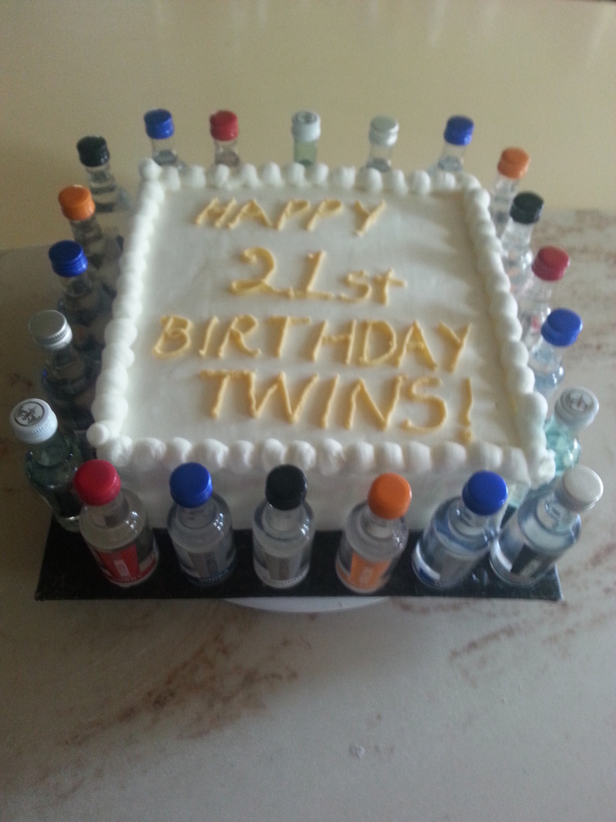 Twins 21st Birthday Cake Cakecentral Com