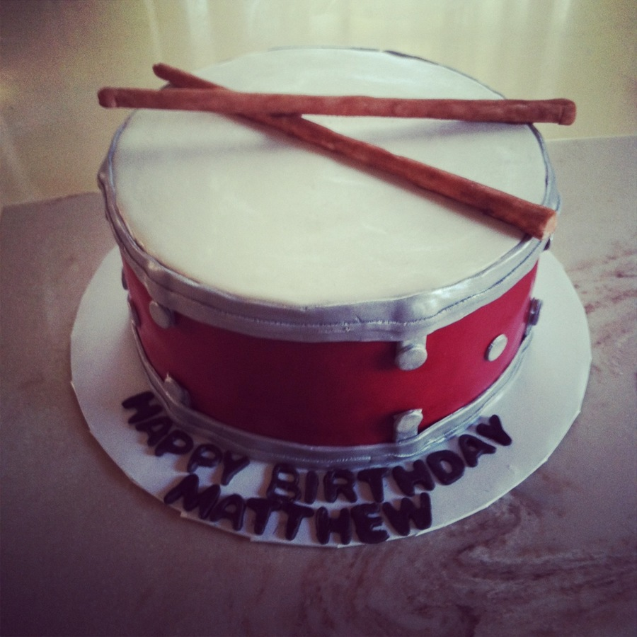 Drummers Birthday Cake Cakecentral