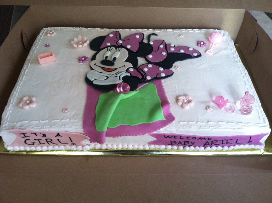 2d cake using minnie mouse instead of baby minnie