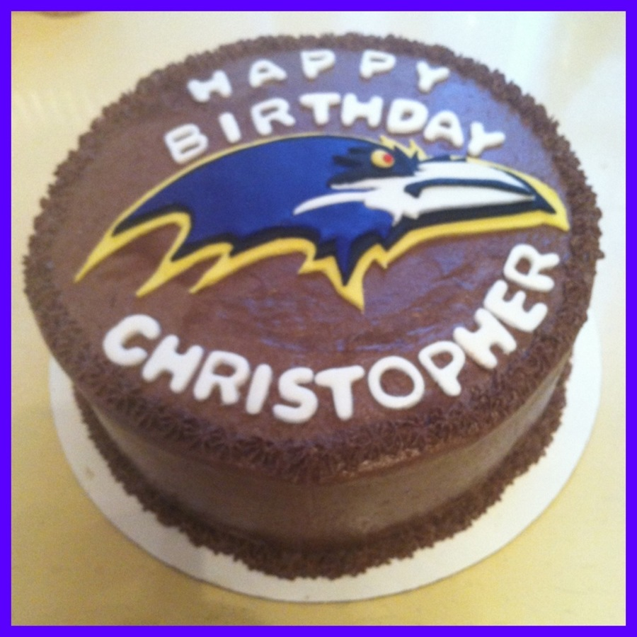 Pleasing Baltimore Ravens Birthday Cake Cakecentral Com Personalised Birthday Cards Akebfashionlily Jamesorg