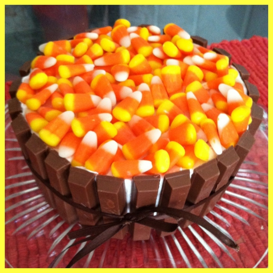 halloween candy bucket cake - cakecentral