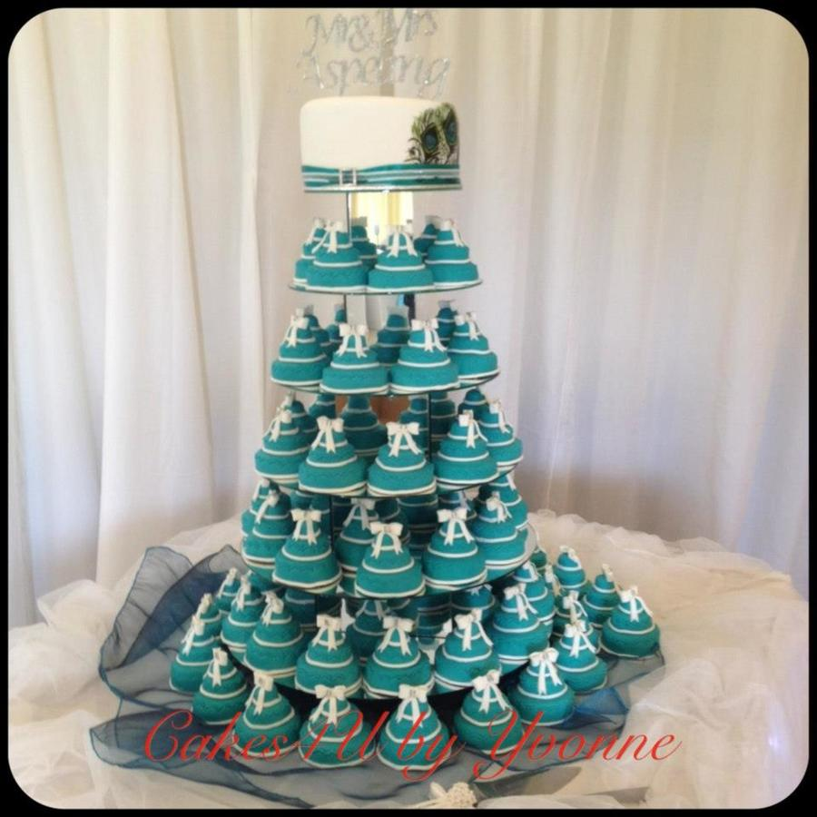 Teal Peacock Wedding Cake on Cake Central