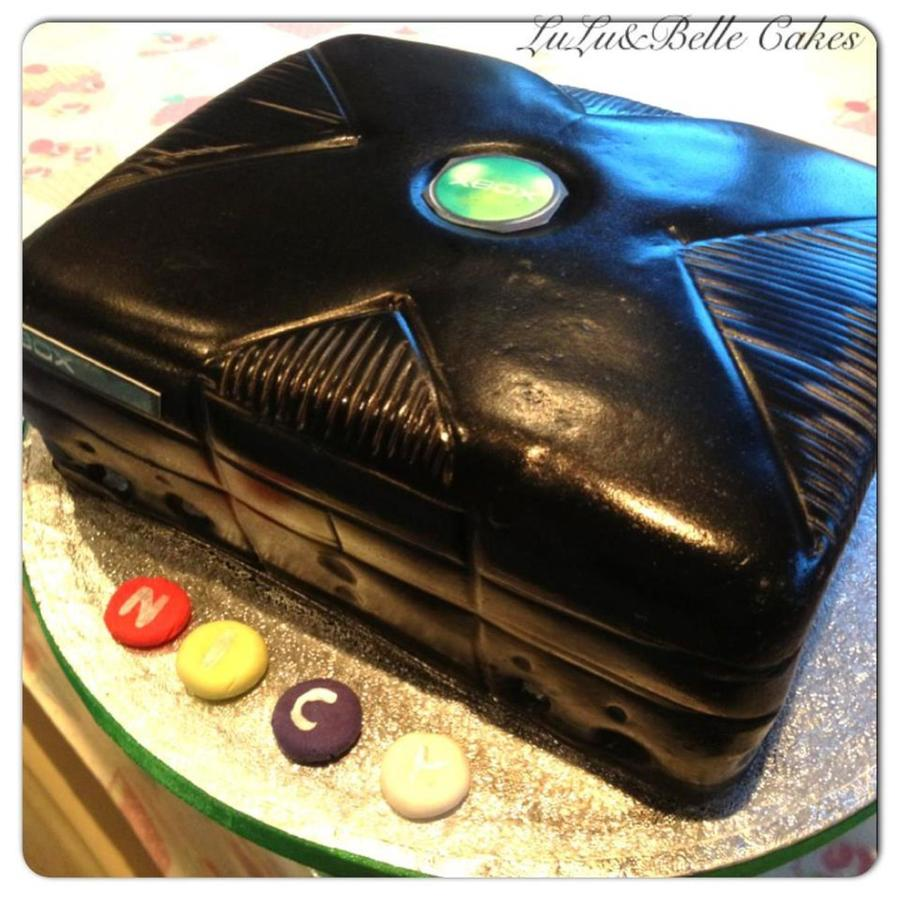 Old Style X Box Cake Using Airbrush on Cake Central