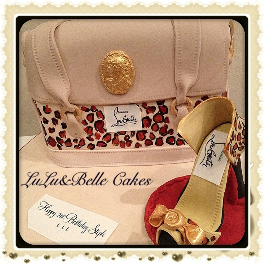 Designer Handbag And Shoe on Cake Central