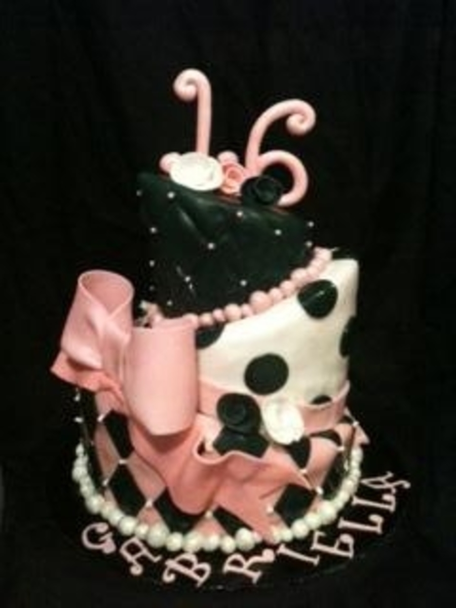 Sweet 16 Topsy Turvy on Cake Central