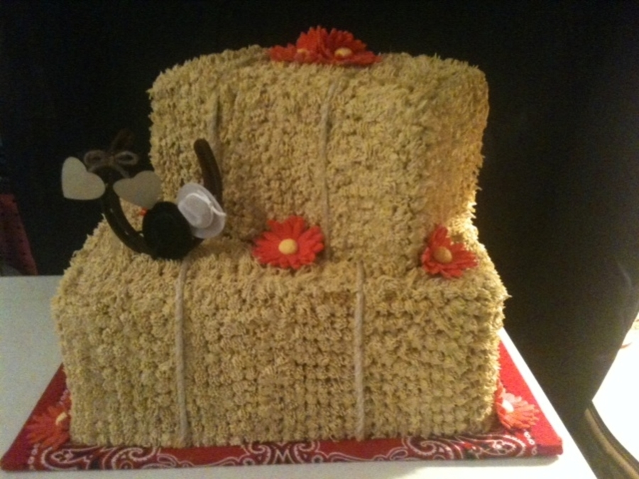 Hay Bale Wedding Cake on Cake Central