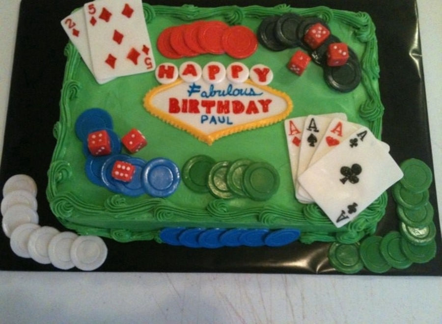 Poker Birthday Cake  on Cake Central