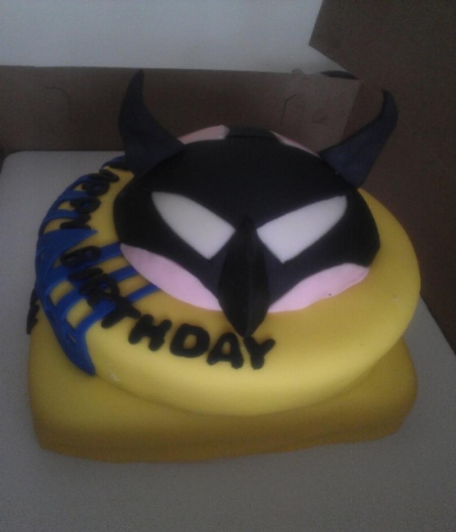 Batman And Bane Birthday Cake CakeCentralcom