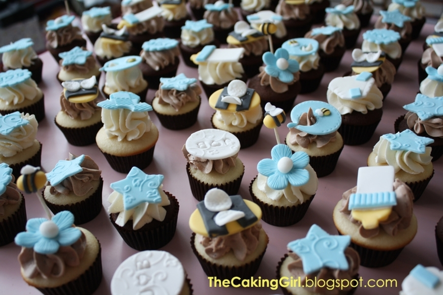 Bumble Bee Baby Shower Cupcakes For Boy