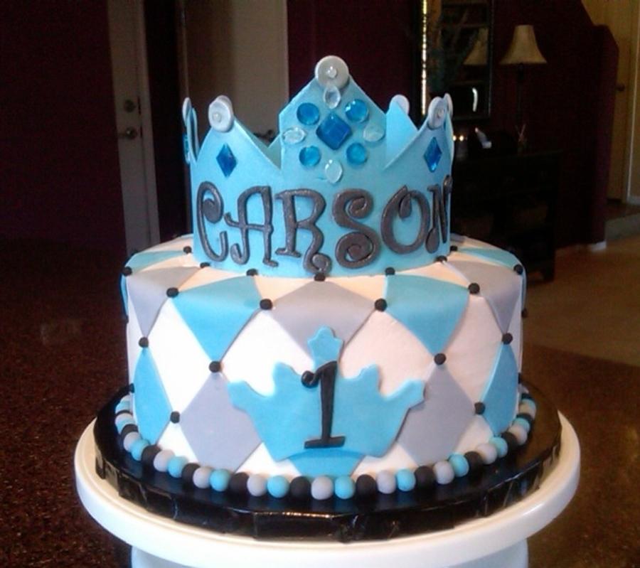 Pleasing 1St Birthday Crown Cake Cakecentral Com Funny Birthday Cards Online Kookostrdamsfinfo