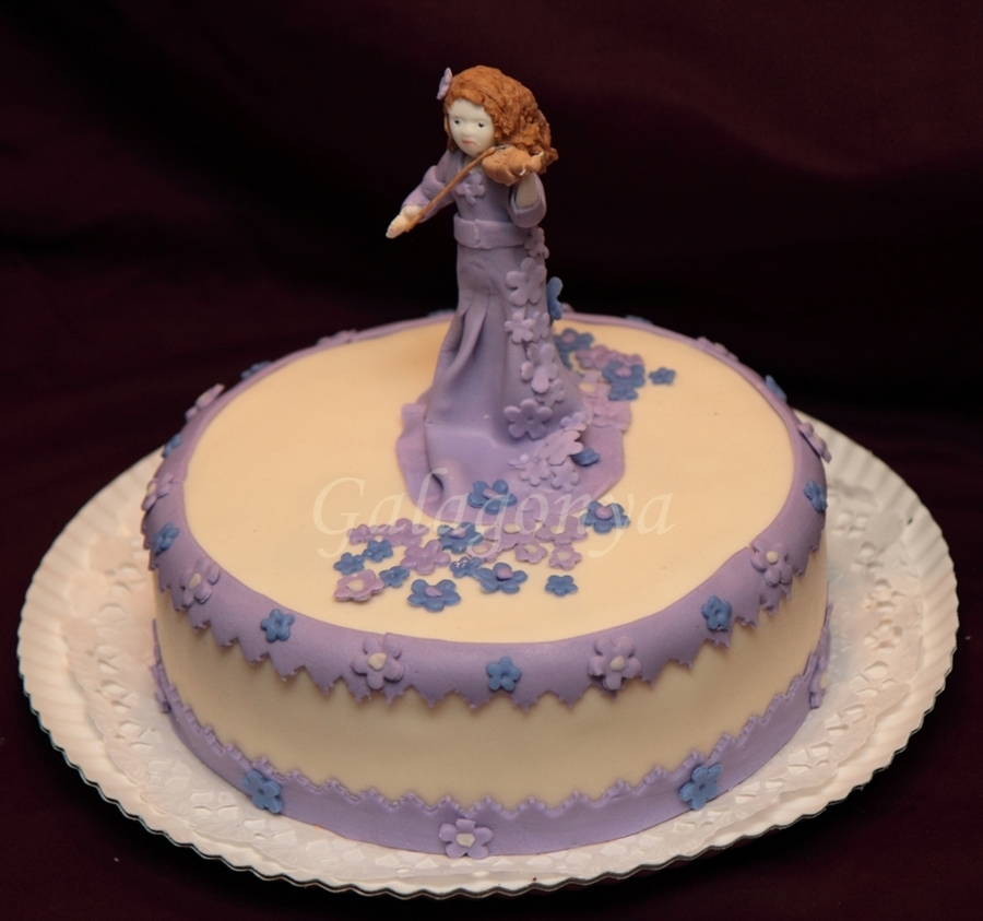 Girl And Violin on Cake Central