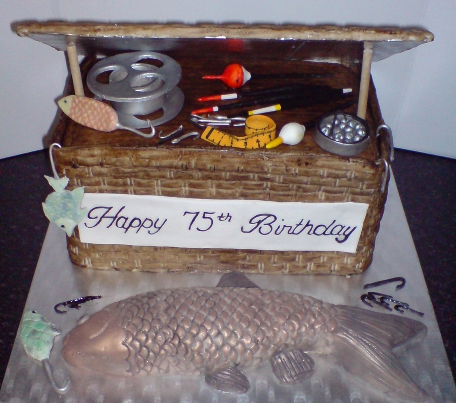 Fishing Creel Cake on Cake Central