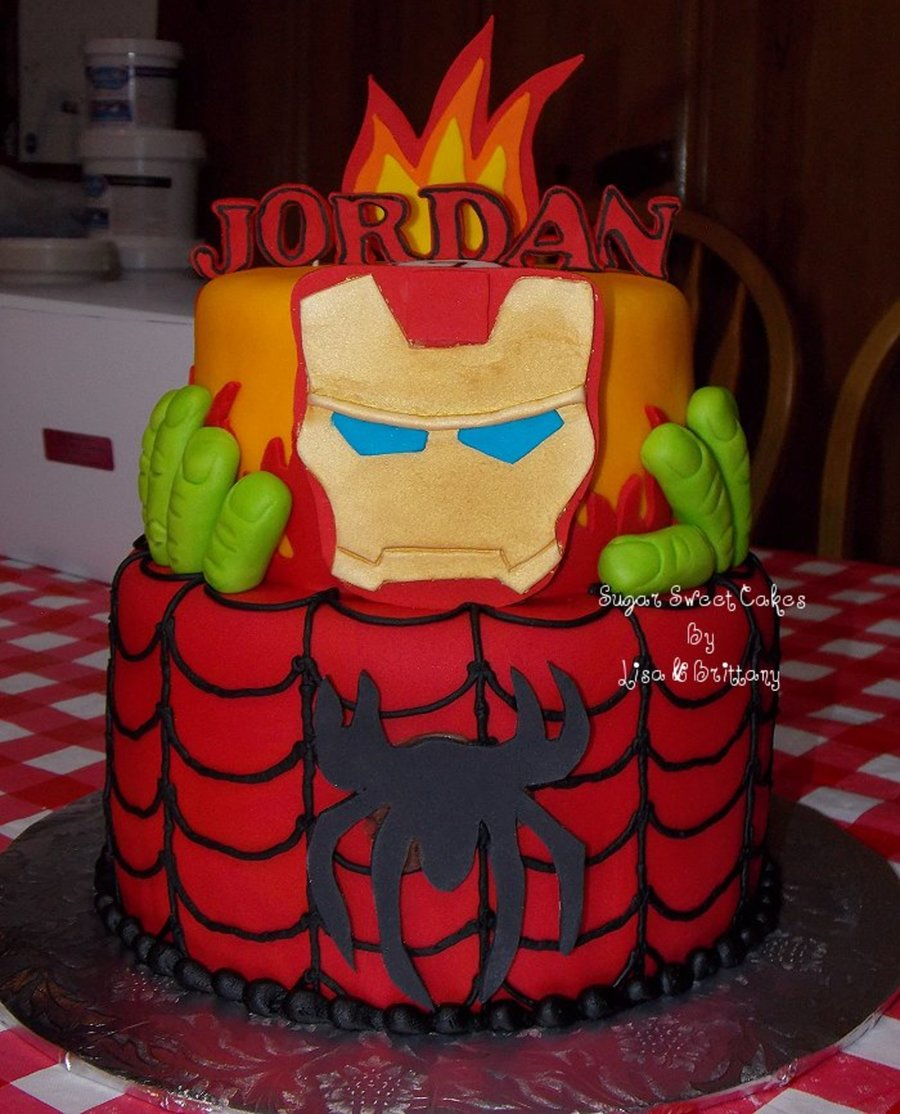 Iron Man Spiderman On Cake Central