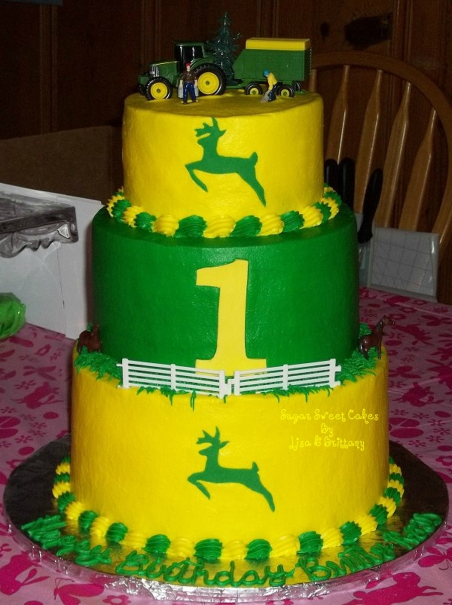 John Deere 1St Birthday For Twins - CakeCentral.com