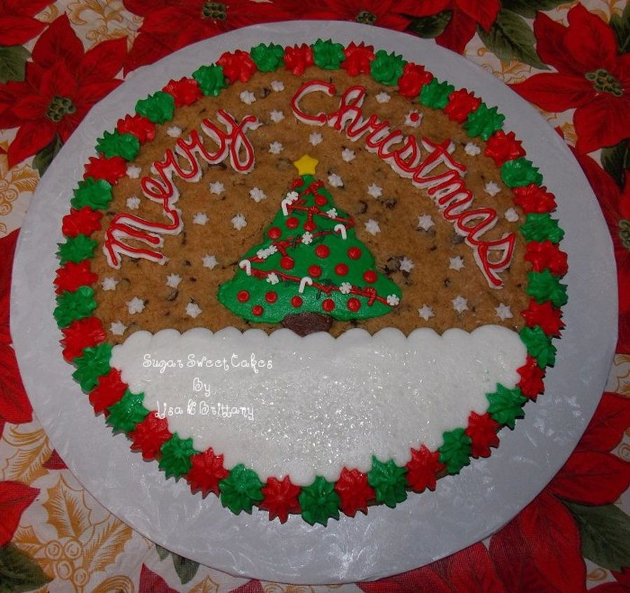 Merry Christmas ~ Cookie Cake on Cake Central