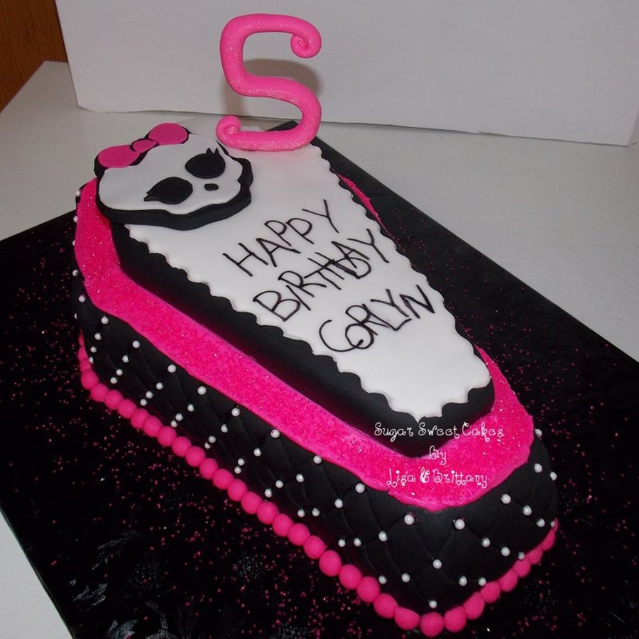 Coffin Shaped Cake