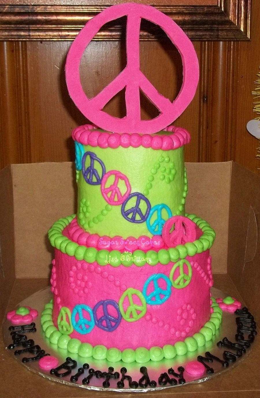 Peace Signs on Cake Central