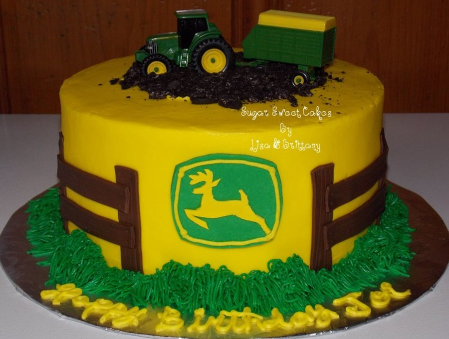 Boy Tractor Birthday Cakes