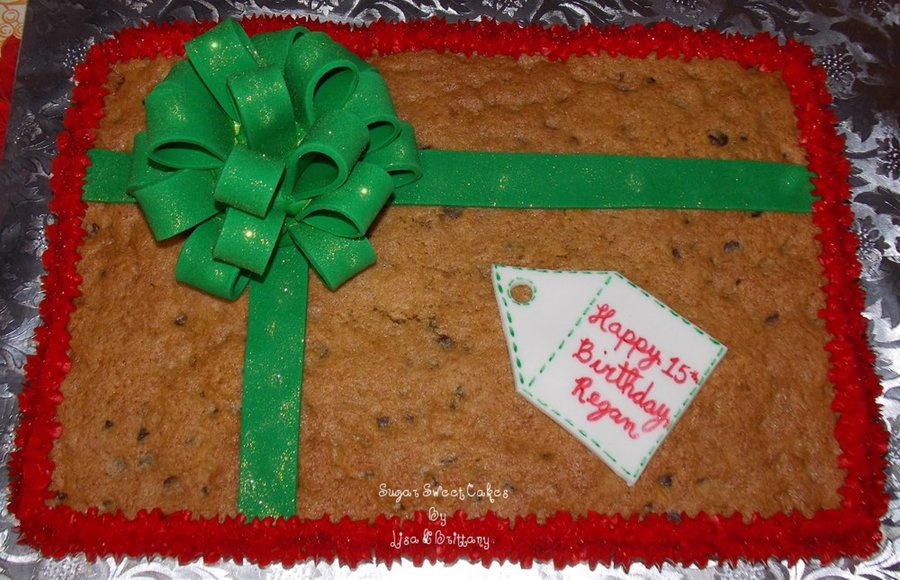 Christmas Present Cookie Cake  on Cake Central