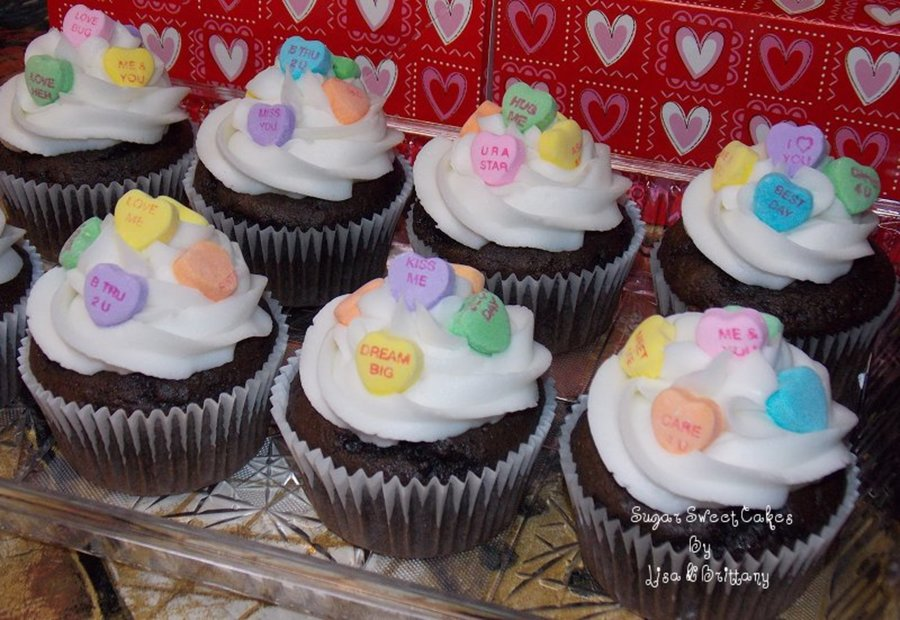 Candy Heart Cupcakes on Cake Central
