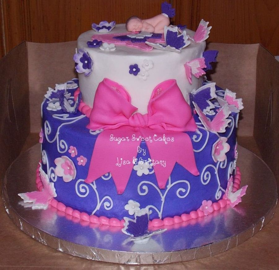 Butterfly Baby Shower on Cake Central