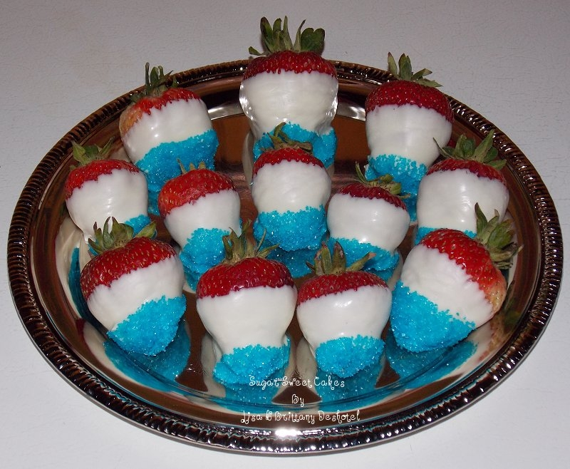 4Th Of July ~ Chocolate Covered Strawberries on Cake Central