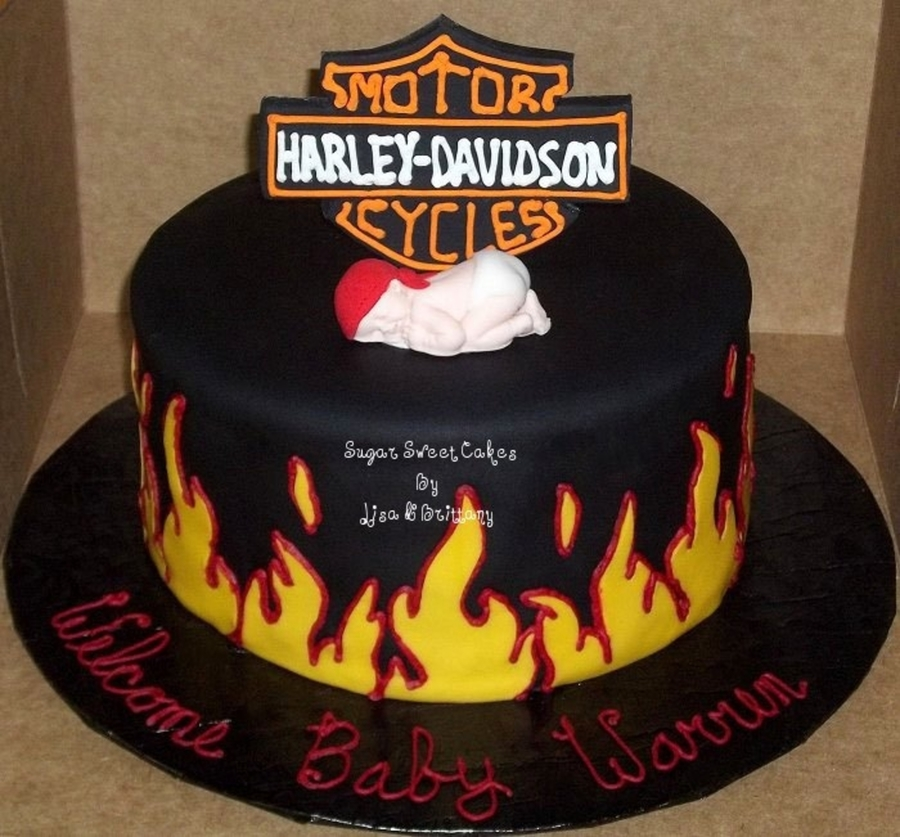 Harley Davidson Baby Shower On Cake Central