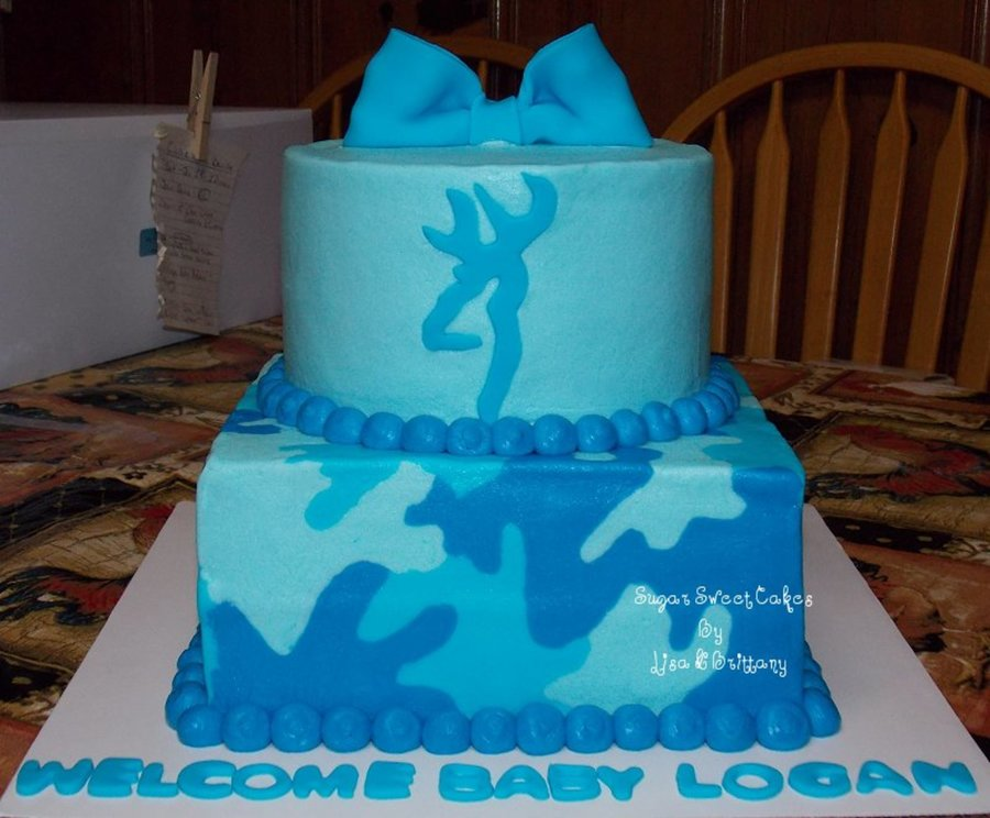 Blue Camo Baby Shower on Cake Central
