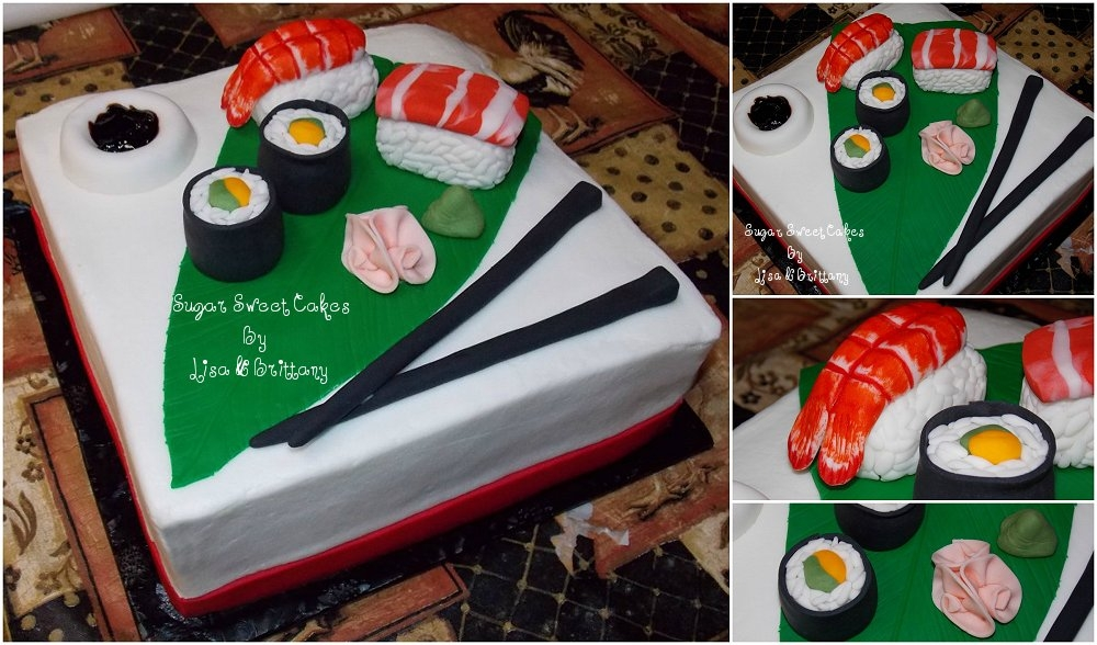Fantastic Sushi Birthday Cake Cakecentral Com Funny Birthday Cards Online Barepcheapnameinfo
