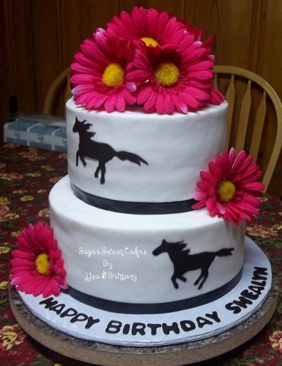 Horses & Daisies on Cake Central
