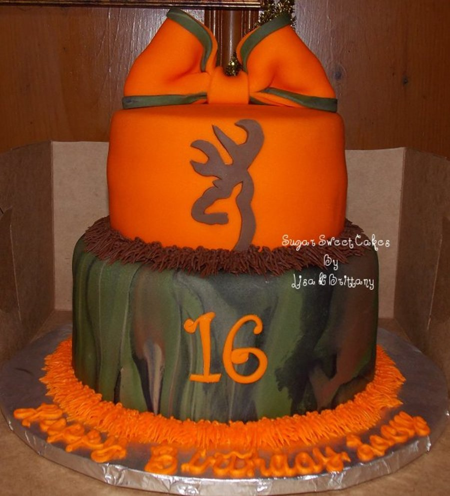 Camo Sweet 16 on Cake Central