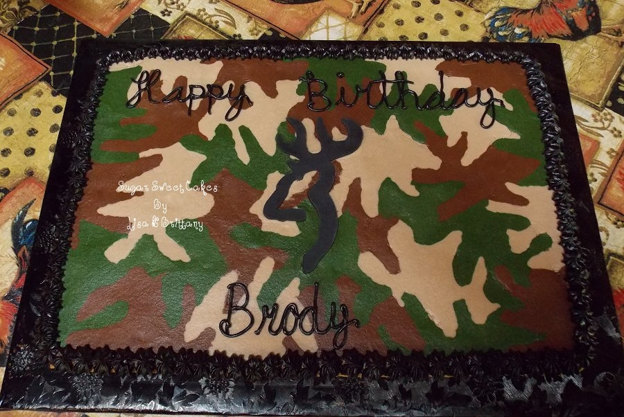 Camo Cookie Cake on Cake Central