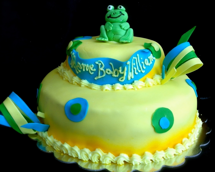 Froggy Baby Shower on Cake Central