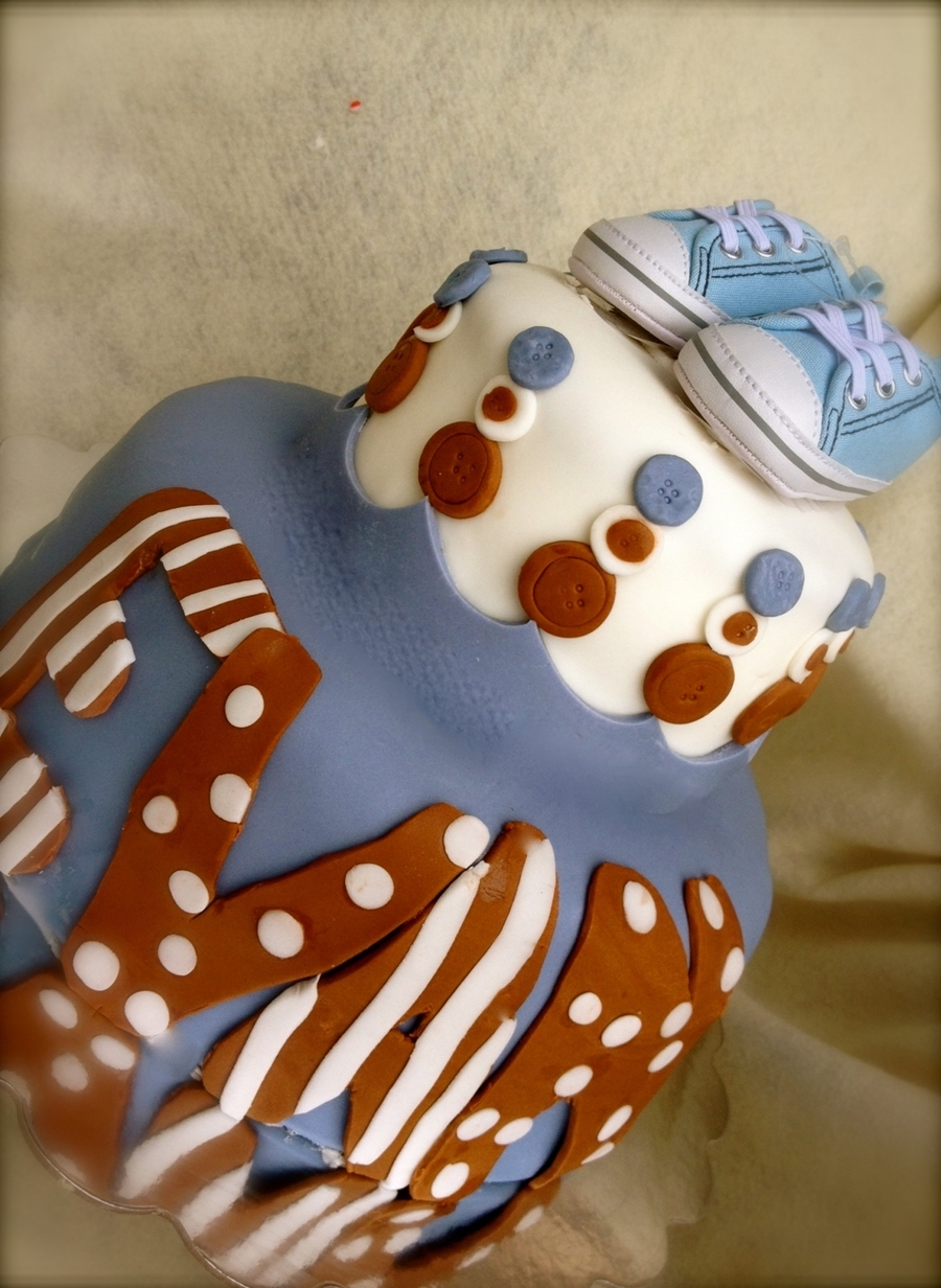 Baby Blue, Baby Shoe on Cake Central