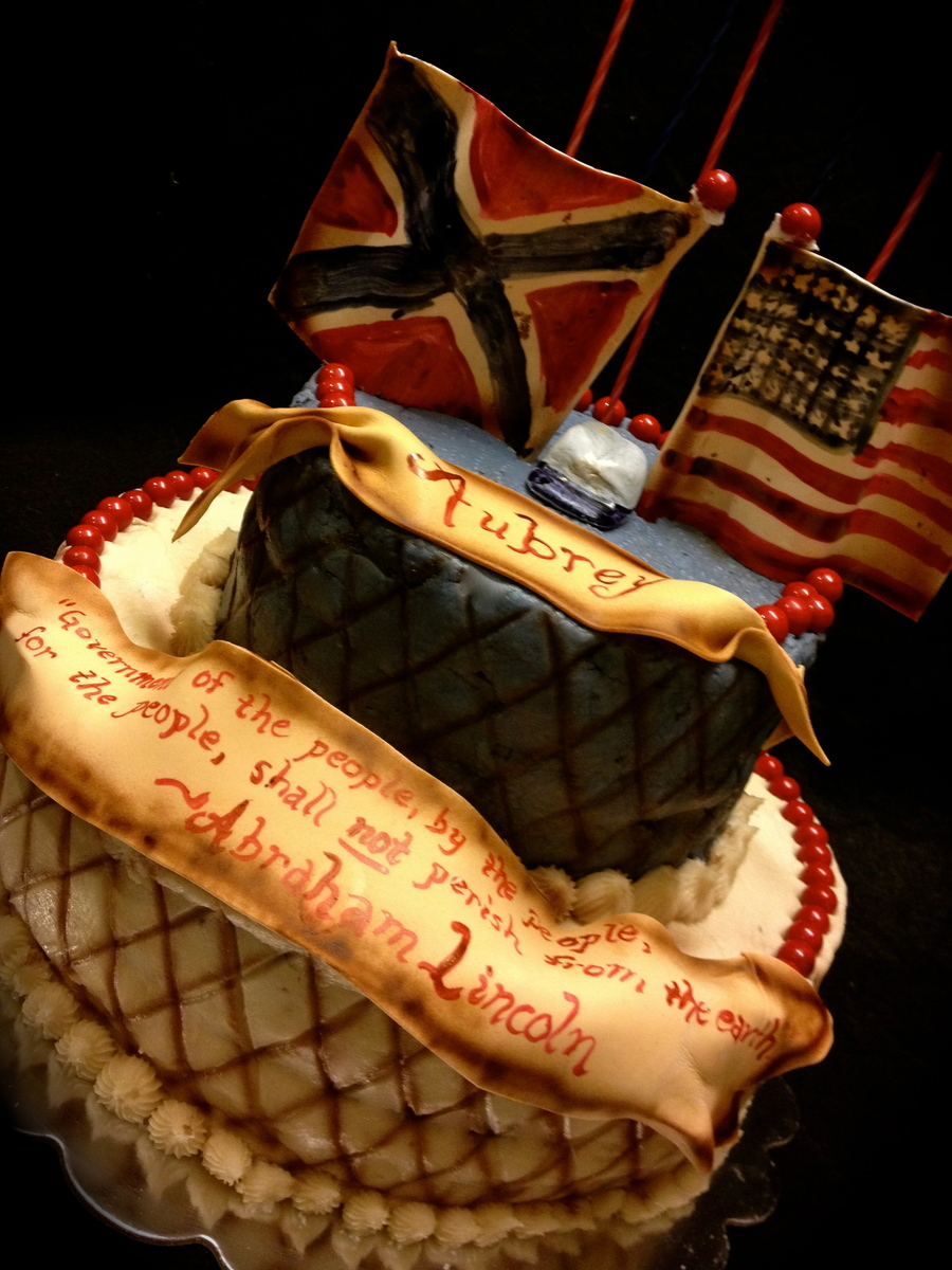 History About Cake Decorating : For A Civil War History Buff Its A Chocolate Cake With An ...