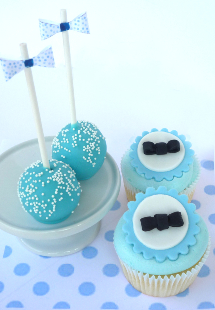 Bow Tie Themed Cake Pops And Cupcakes. on Cake Central