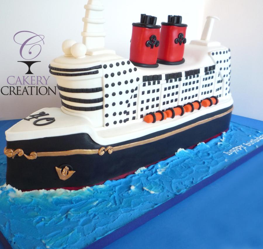 D Cruise Ship Cake CakeCentralcom - Cruise ship cake