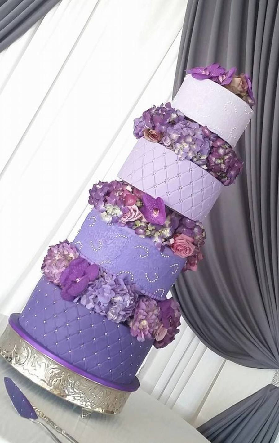 ombre wedding cake purple purple ombre wedding cake cakecentral 18009