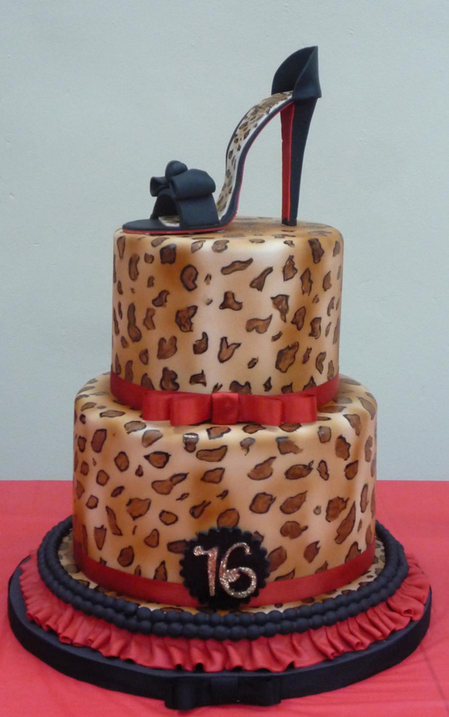 Leopard High Heel Shoe Cake