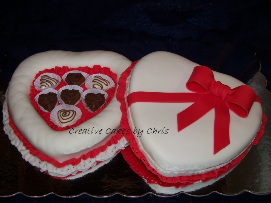 Valentine's Day Candy Box Cake  on Cake Central