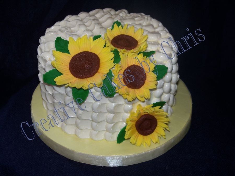 Petal Effect And Sunflowers on Cake Central