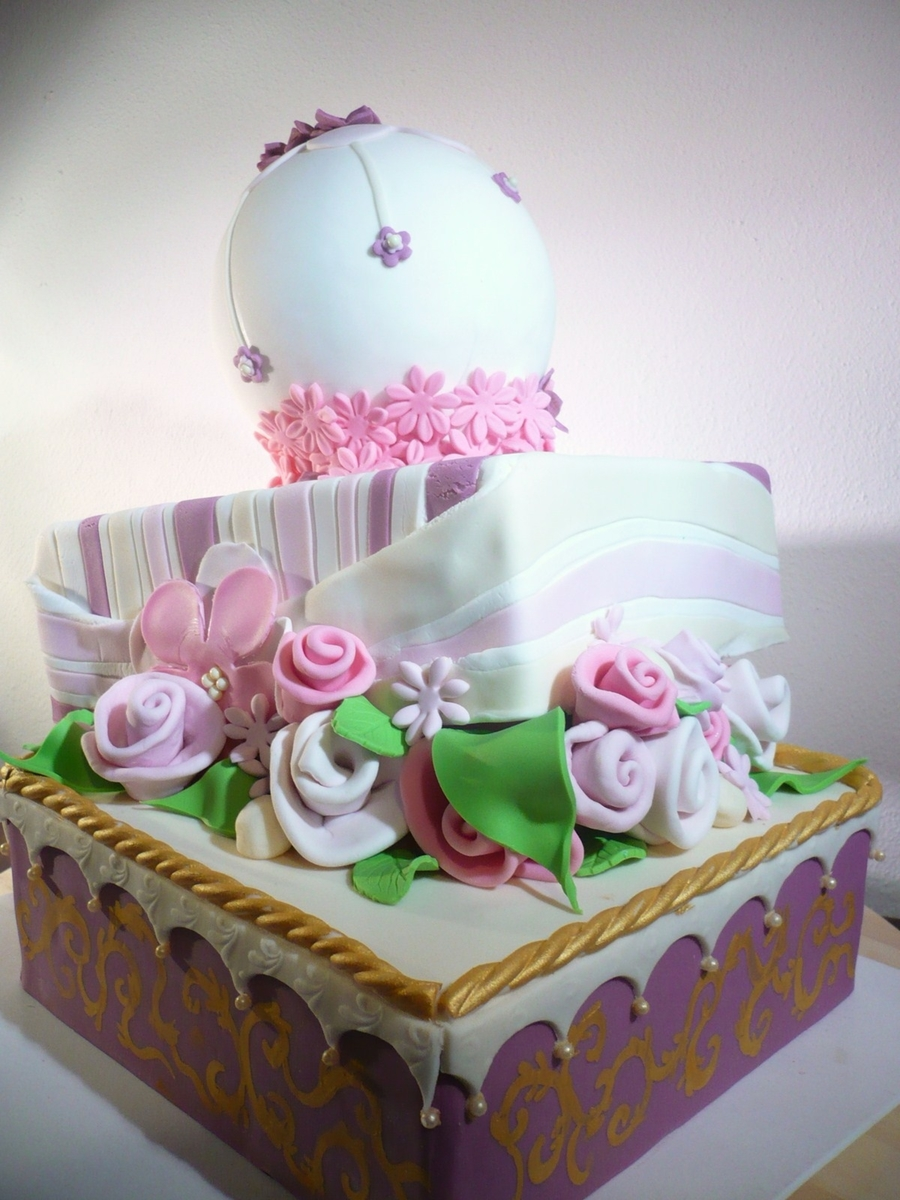 Whimsical With Flowers on Cake Central