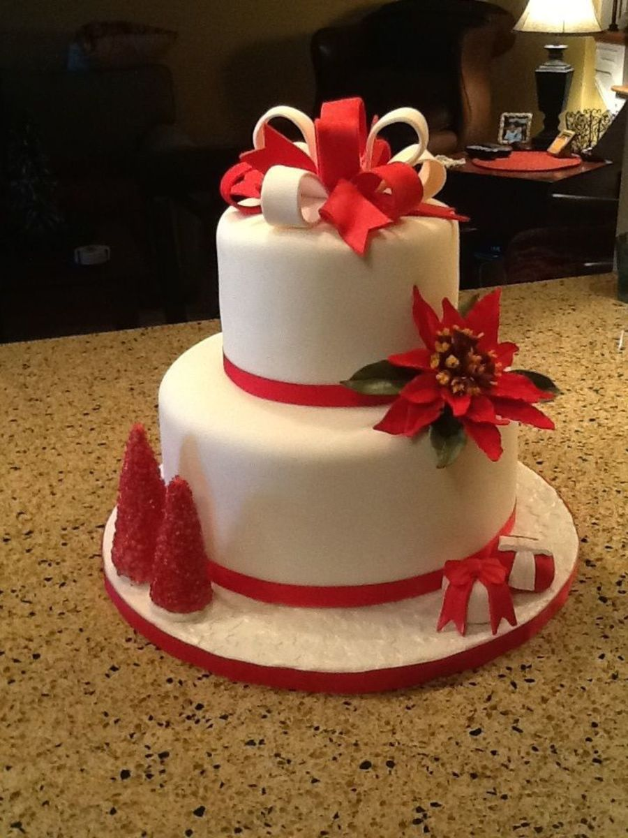 Holiday Celebration Cake on Cake Central