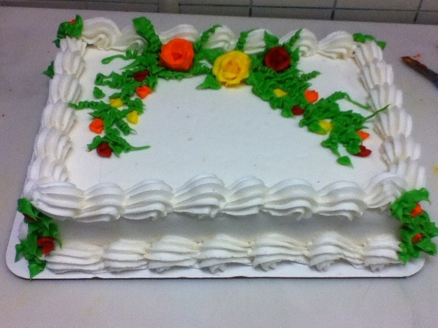 Fall Color Flowers on Cake Central