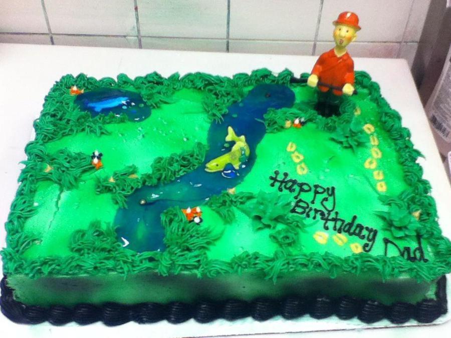 Fishingdeer Hunting Birthday Cake CakeCentralcom