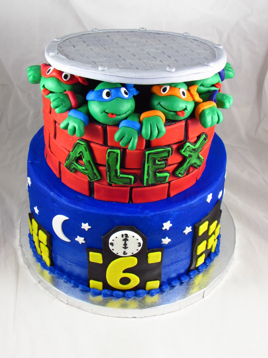 Teenage Mutant Ninja Turtle Van Cake