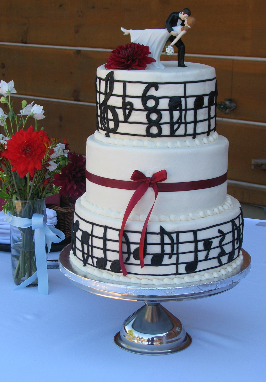 music note wedding cake note wedding cake cakecentral 17666